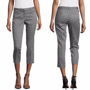 Laundry By Shelli Segal Navy & White Cropped Pants